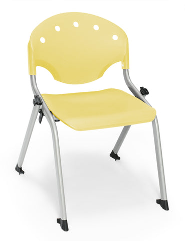 "OFM 305-14-P23 Student Stack Chair, 14"" Height, Yellow (Pack of 4) ; UPC: 845123021965 ; Image 1"