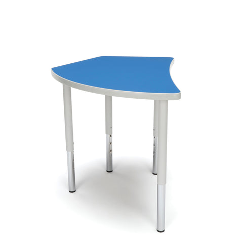 OFM Adapt Series Crescent Standard Table - 23-31? Height Adjustable Desk, Blue (CREST-LL) ; UPC: 845123096505 ; Image 4