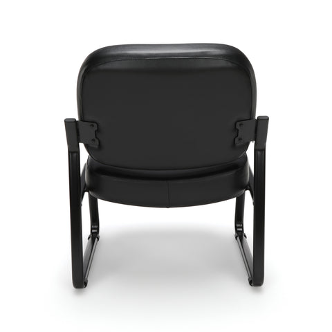 OFM Model 409-VAM Big and Tall Armless Guest and Reception Chair, Anti-Microbial/Anti-Bacterial Vinyl, Black ; UPC: 845123028704 ; Image 3