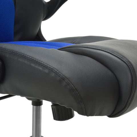 OFM Essentials Collection High-Back Racing Style Bonded Leather Gaming Chair, in Blue (ESS-3086-BLU) ; UPC: 845123090633 ; Image 10