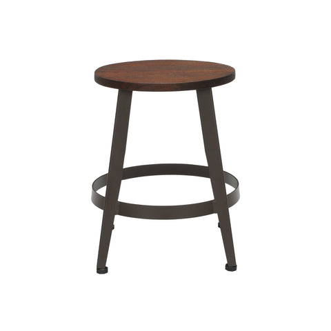 "OFM Core Collection Edge Series 18"" Table Height Metal Stool, in Walnut (33918W-WLT) ; UPC: 192767002431 ; Image 2"