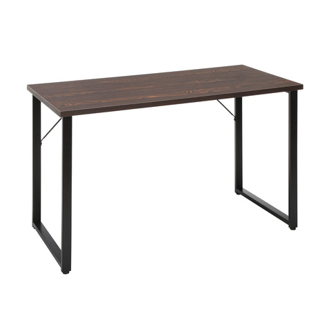 "OFM Essentials Collection Modern 48"" O-Frame Computer Desk, in Wenge (ESS-1006 -BLK-WEN) ; UPC: 192767000024 ; Image 1"