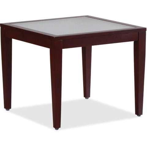 Lorell Glass Top Corner Table