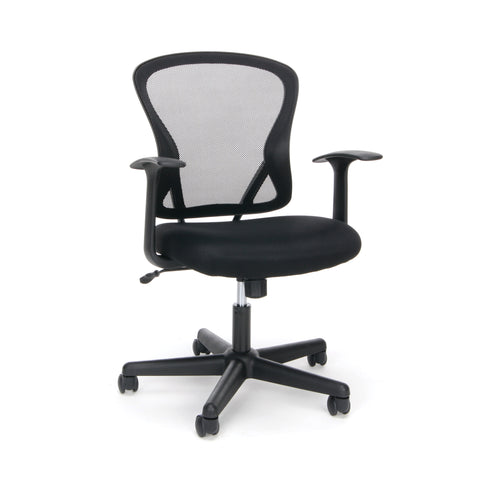 Essentials by OFM ESS-3011 Swivel Mesh Back Task Chair with Arms, Mid Back, Black ; UPC: 089191013457 ; Image 1