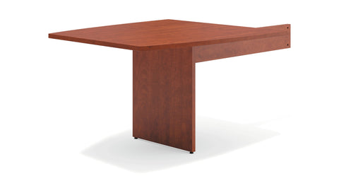 "HON Modular Conference Table, Boat End, 48""W x 96""D, Medium Cherry (BSXBLMT48B) ; UPC: 641128329873 ; Image 1"