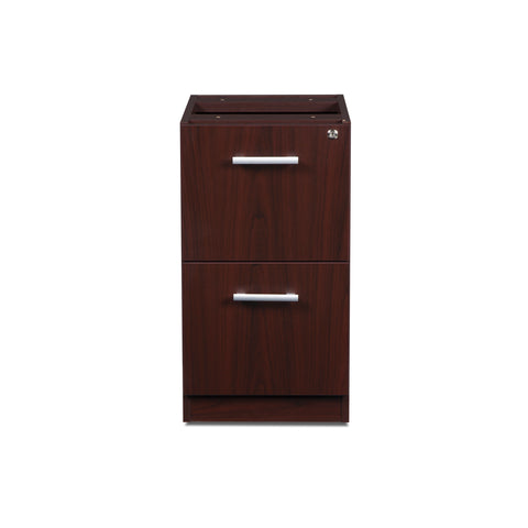 OFM Fulcrum Series Locking Pedestal, 2-Drawer Filing Cabinet, Mahogany (CL-FF-MHG) ; UPC: 845123097496 ; Image 2