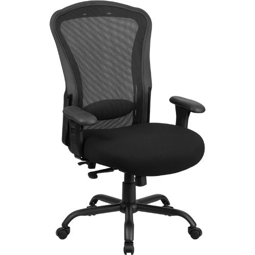 Hercules Series Big & Tall Black Mesh Multi-Function Chair (LQ-3-BK-GG)