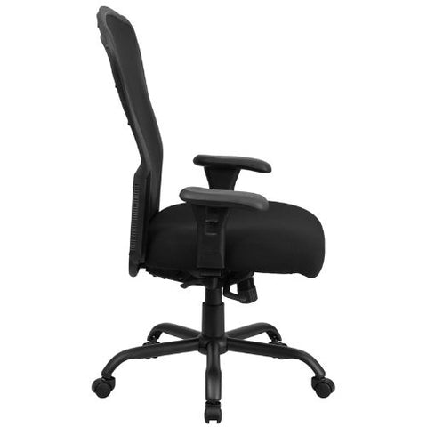 Flash Furniture HERCULES Series 24/7 Intensive Use Big & Tall 400 lb. Rated Black Mesh Multifunction Synchro-Tilt Ergonomic Office Chair LQ3BKGG ; Image 3 ; UPC 889142010326