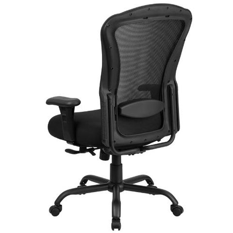 Flash Furniture HERCULES Series 24/7 Intensive Use Big & Tall 400 lb. Rated Black Mesh Multifunction Synchro-Tilt Ergonomic Office Chair LQ3BKGG ; Image 4 ; UPC 889142010326