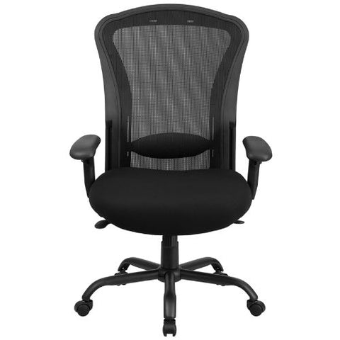 Flash Furniture HERCULES Series 24/7 Intensive Use Big & Tall 400 lb. Rated Black Mesh Multifunction Synchro-Tilt Ergonomic Office Chair LQ3BKGG ; Image 5 ; UPC 889142010326