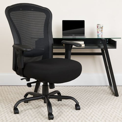 Flash Furniture HERCULES Series 24/7 Intensive Use Big & Tall 400 lb. Rated Black Mesh Multifunction Synchro-Tilt Ergonomic Office Chair LQ3BKGG ; Image 2 ; UPC 889142010326