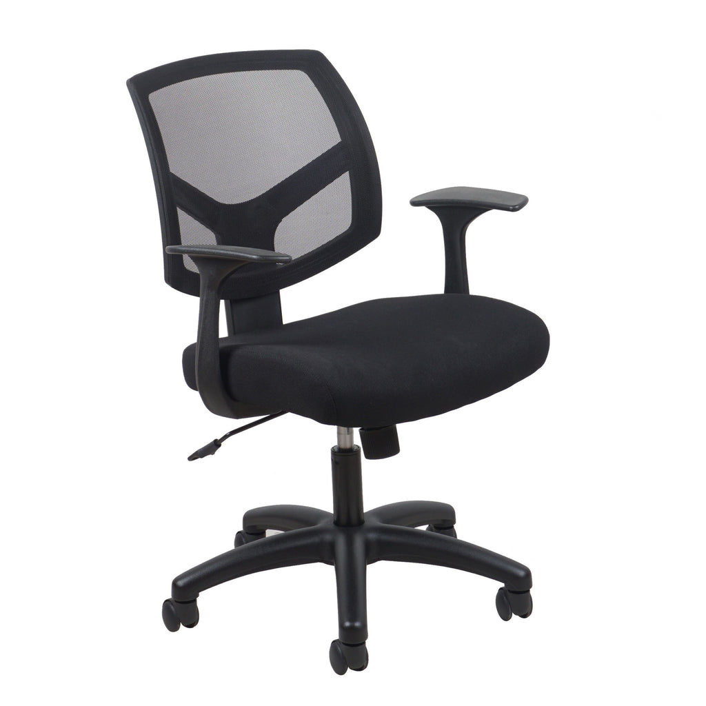 Essentials by OFM ESS-3030 Swivel Mesh Back Task Chair with Arms, Black ; UPC: 089191013549 ; Image 1