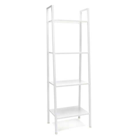 Essentials by OFM ESS-1045 4-Shelf Free Standing Ladder Bookshelf, White with White Frame ; UPC: 845123095638 ; Image 1