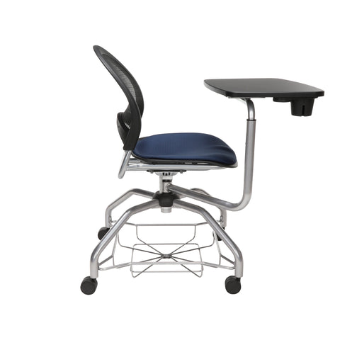 OFM Moon Foresee Series Tablet Chair with Removable Fabric Seat Cushion - Student Desk Chair, Navy (339T) ; UPC: 845123094594 ; Image 4