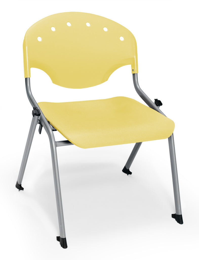 "OFM 305-16-P23 Student Stack Chair, 16"" Height, Yellow (Pack of 4) ; UPC: 845123021897 ; Image 1"