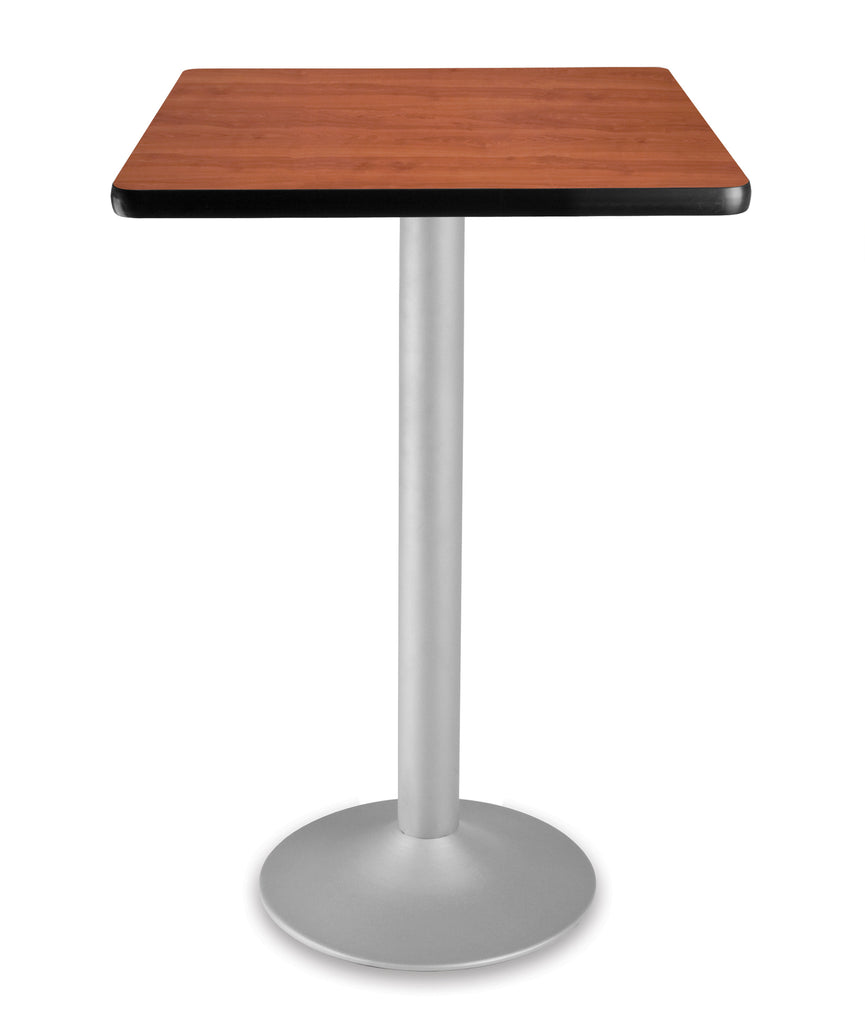 "OFM Model CFT24SQ 24"" Square Folding Cafe Height Table with Pedestal Base, Cherry ; UPC: 845123006245 ; Image 1"