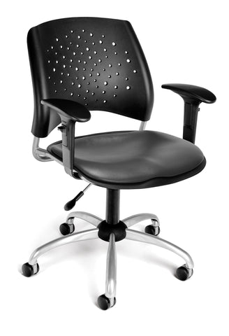 OFM 326-VAM-AA3-604 Stars Swivel Chair with Arms and Vinyl Seat ; UPC: 845123012697 ; Image 1