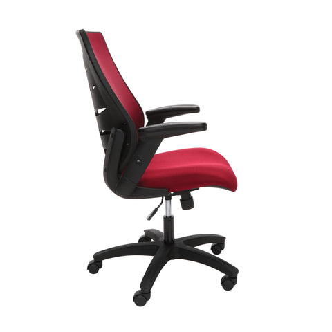OFM Model 530-BURG Core Collection Midback Mesh Office Chair for Computer Desk, Burgundy ; UPC: 192767000345 ; Image 4