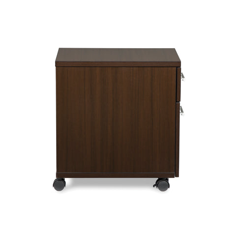 OFM Fulcrum Series Locking Pedestal, Mobile 2-Drawer Filing Cabinet, Espresso (CL-MBF-ESP) ; UPC: 845123097526 ; Image 4