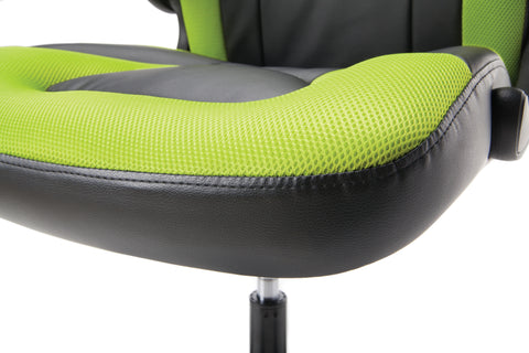 OFM Essentials Collection Racing Style Bonded Leather Gaming Chair, in Green (ESS-3085-GRN) ; UPC: 845123089293 ; Image 10