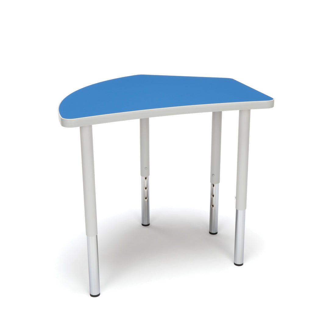 OFM Adapt Series Crescent Standard Table - 23-31? Height Adjustable Desk, Blue (CREST-LL) ; UPC: 845123096505 ; Image 1