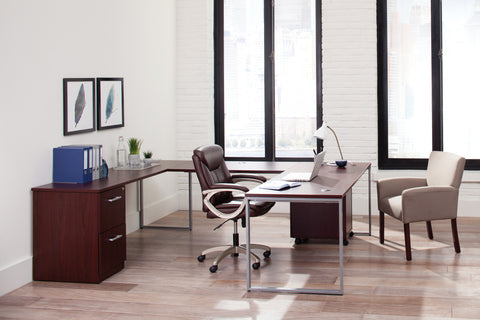 Essentials by OFM ESS-6020 Executive Office Chair, Brown with Champagne Frame ; UPC: 845123093269 ; Image 12