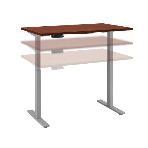 Bush Move 60 Series 48W x 24D Height Adjustable Standing Desk, Hansen Cherry M6S4824HCSK ; UPC: 042976066925 ; Image 1