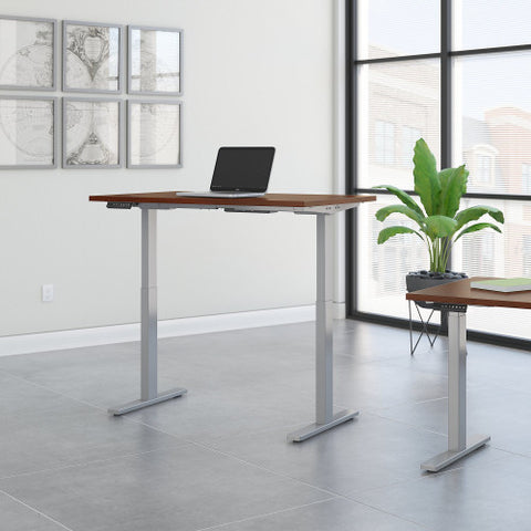 Bush Move 60 Series 48W x 24D Height Adjustable Standing Desk, Hansen Cherry M6S4824HCSK ; UPC: 042976066925 ; Image 2
