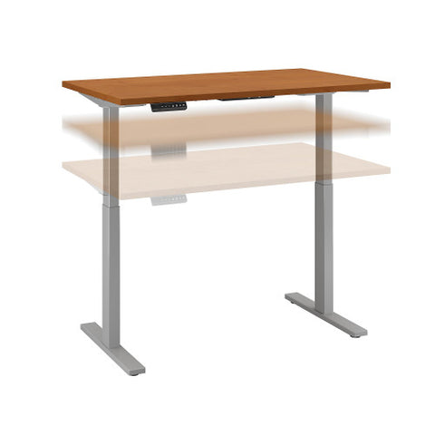 Bush Move 60 Series 48W x 24D Height Adjustable Standing Desk, Natural Cherry M6S4824NCSK ; UPC: 042976067076 ; Image 1
