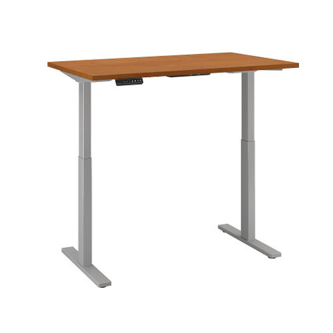 Bush Move 60 Series 48W x 24D Height Adjustable Standing Desk, Natural Cherry M6S4824NCSK ; UPC: 042976067076 ; Image 3