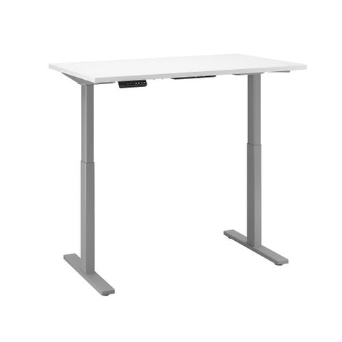 Bush Move 60 Series 48W x 24D Height Adjustable Standing Desk, White M6S4824WHSK ; UPC: 042976067199 ; Image 3