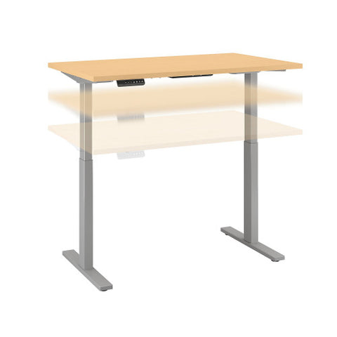 Bush Move 60 Series 48W x 30D Height Adjustable Standing Desk, Natural Maple M6S4830ACSK ; UPC: 042976067472 ; Image 1