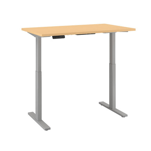 Bush Move 60 Series 48W x 30D Height Adjustable Standing Desk, Natural Maple M6S4830ACSK ; UPC: 042976067472 ; Image 3
