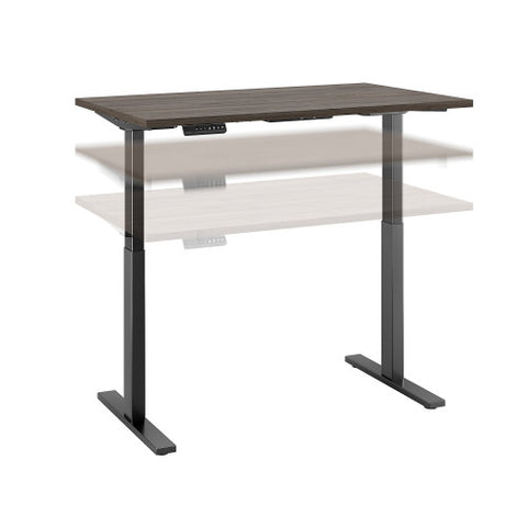 Bush Move 60 Series 48W x 30D Height Adjustable Standing Desk, Cocoa M6S4830COBK ; UPC: 042976074890 ; Image 1