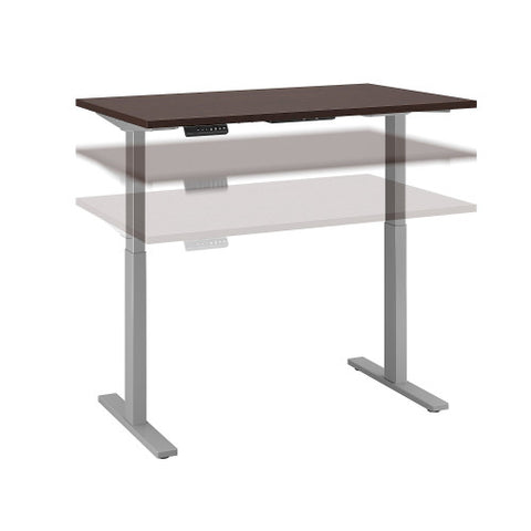 Bush Move 60 Series 48W x 30D Height Adjustable Standing Desk, Mocha Cherry Satin M6S4830MRSSK ; UPC: 042976067328 ; Image 1