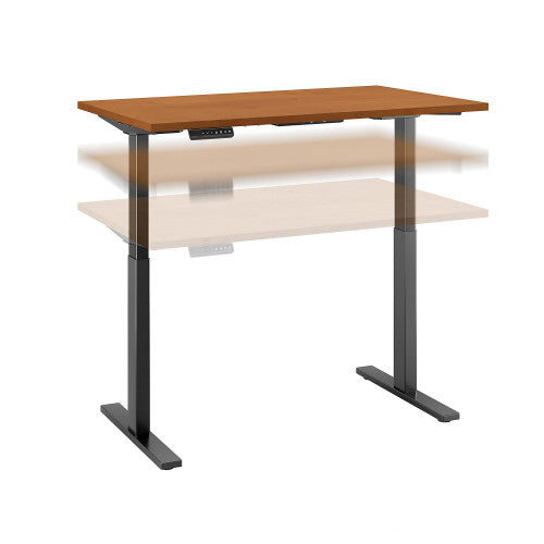 Bush Move 60 Series 48W x 30D Height Adjustable Standing Desk, Natural Cherry M6S4830NCBK ; UPC: 042976067342 ; Image 1