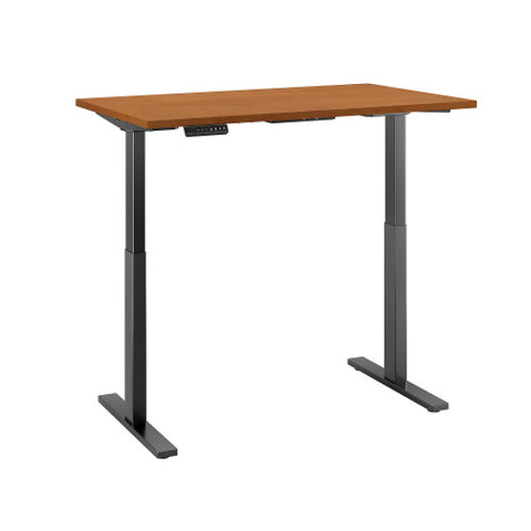 Bush Move 60 Series 48W x 30D Height Adjustable Standing Desk, Natural Cherry M6S4830NCBK ; UPC: 042976067342 ; Image 3