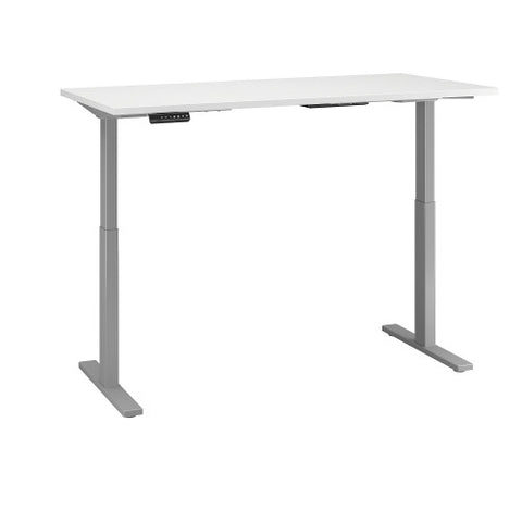 Bush Move 60 Series 60W x 24D Height Adjustable Standing Desk, White M6S6024WHSK ; UPC: 042976067786 ; Image 3
