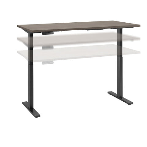 Bush Move 60 Series 60W x 30D Height Adjustable Standing Desk, Cocoa M6S6030COBK ; UPC: 042976074845 ; Image 1