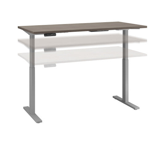 Bush Move 60 Series 60W x 30D Height Adjustable Standing Desk, Cocoa M6S6030COSK ; UPC: 042976074876 ; Image 1