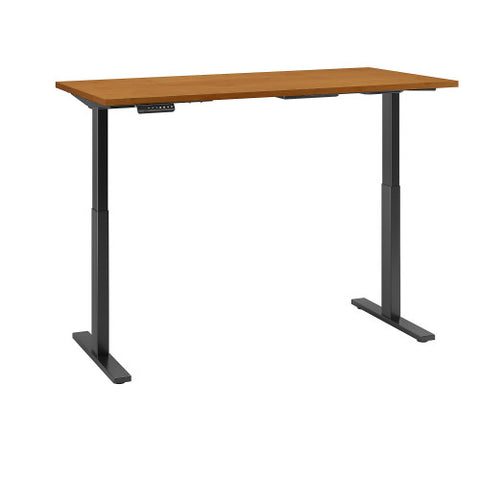 Bush Move 60 Series 60W x 30D Height Adjustable Standing Desk, Natural Cherry M6S6030NCBK ; UPC: 042976067922 ; Image 3