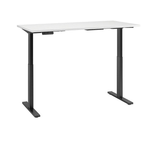 Bush Move 60 Series 60W x 30D Height Adjustable Standing Desk, White M6S6030WHBK ; UPC: 042976068066 ; Image 3