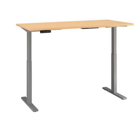 Bush Move 60 Series 72W x 24D Height Adjustable Standing Desk, Natural Maple M6S7224ACSK ; UPC: 042976068318 ; Image 3