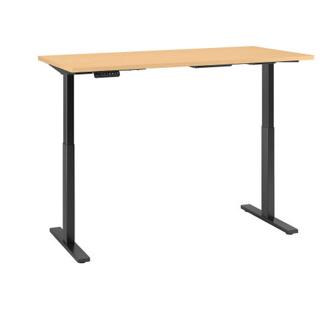 Bush Move 60 Series 72W x 30D Height Adjustable Standing Desk, Natural Maple M6S7230ACBK ; UPC: 042976068684 ; Image 3