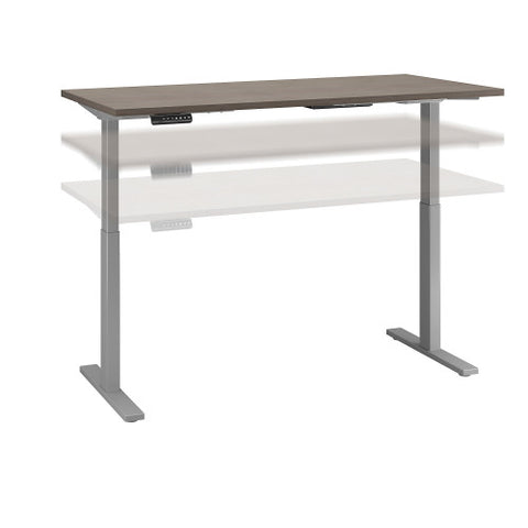Bush Move 60 Series 72W x 30D Height Adjustable Standing Desk, Cocoa M6S7230COSK ; UPC: 042976074821 ; Image 1
