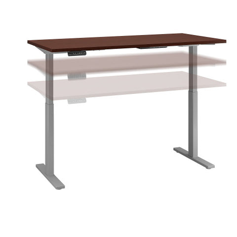 Bush Move 60 Series 72W x 30D Height Adjustable Standing Desk, Harvest Cherry M6S7230CSSK ; UPC: 042976068660 ; Image 1