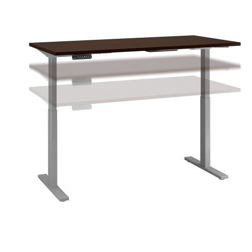 Bush Move 60 Series 72W x 30D Height Adjustable Standing Desk, Mocha Cherry Satin M6S7230MRSSK ; UPC: 042976068561 ; Image 1