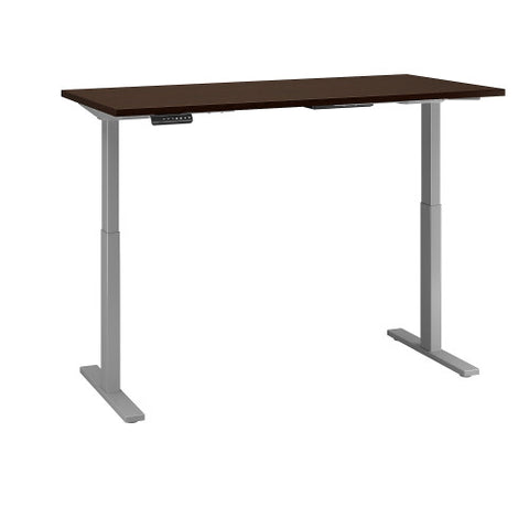 Bush Move 60 Series 72W x 30D Height Adjustable Standing Desk, Mocha Cherry Satin M6S7230MRSSK ; UPC: 042976068561 ; Image 3