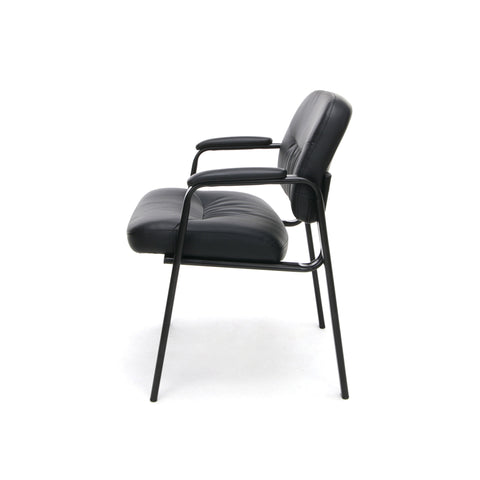 Essentials by OFM ESS-9010 Bonded Leather Executive Side Chair, Black ; UPC: 845123089408 ; Image 5