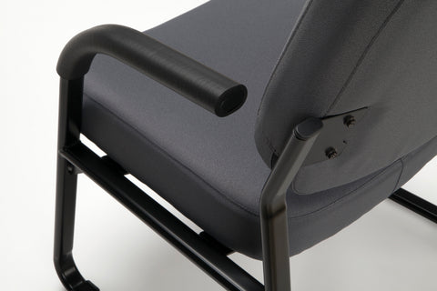 OFM Model 407 Fabric Big and Tall Guest and Reception Chair with Arms, Gray ; UPC: 845123028551 ; Image 7